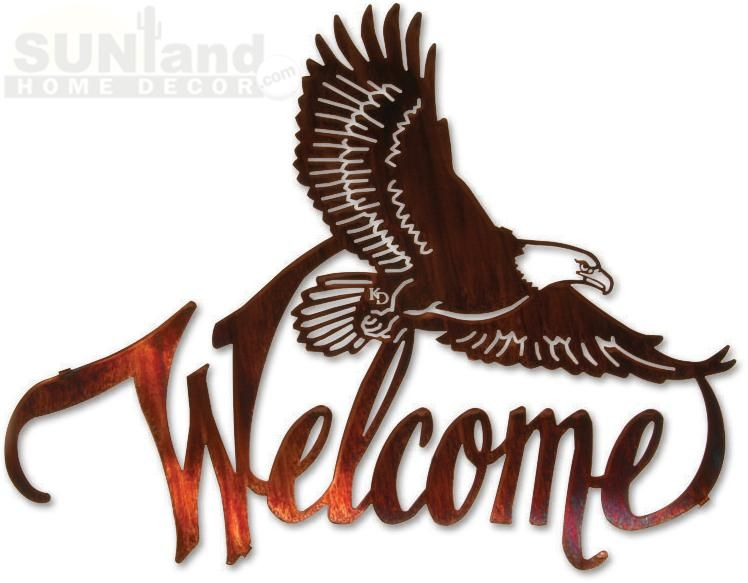 SunlandHomeDecor.com: 20In Winged Eagle Welcome
