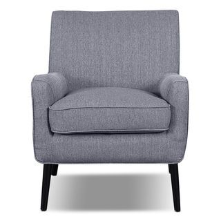 Galo Linen Like Fabric Accent Chair Granite Fabric Accent