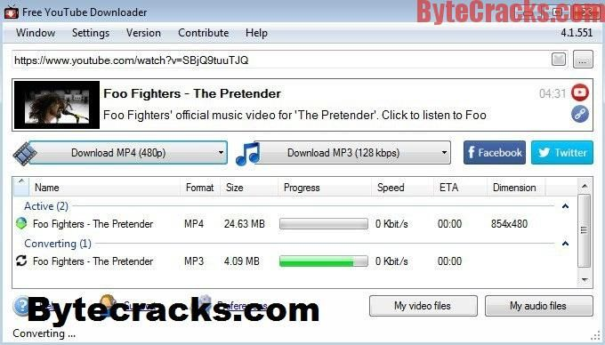 Free YouTube Download 4.1.62.1130 crack full version free