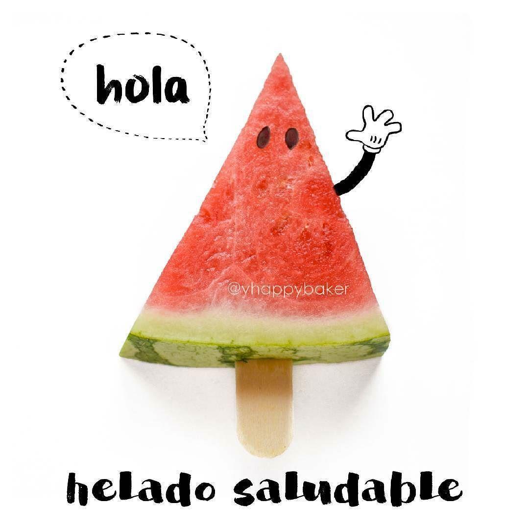 @Regrann from @vhappybaker -  Hoy para merendar sandía :) En verano cocino muchísimo menos os pasa también que con el calor comemos mucha más fruta y verduras crudas? #lessismore #watermelon #sandia #healthyicecream #heladosaludable #hola #Regrann