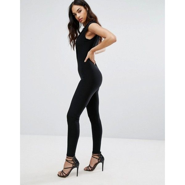50e868a3b9 Club L Plunge Front Catsuit ( 28) ❤ liked on Polyvore featuring jumpsuits