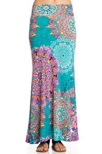 f8c4df16303c 5Tread Foldover High Waisted Floor Length Maxi Skirt | Skirt ...