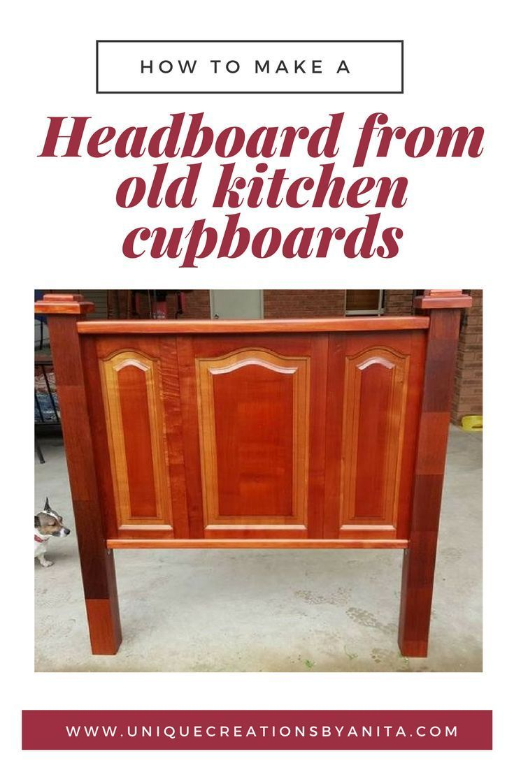 How to make a headboard from old kitchen cupboard doors kitchen