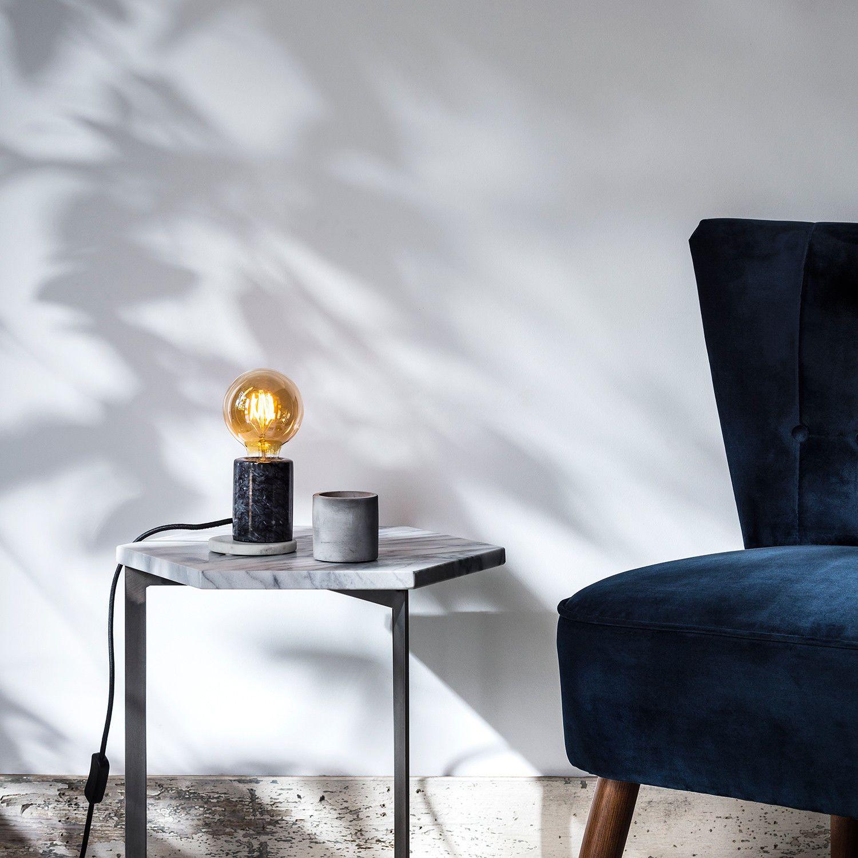 Details about Black Marble Base Modern Bedside Table Lamp