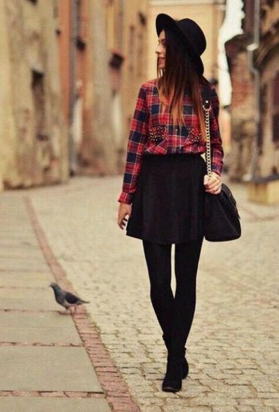 001a008df Inspiración para usar faldas cortas en invierno | ActitudFEM ...