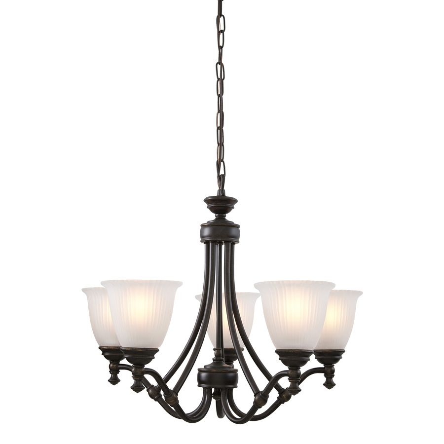 Dining Room Chandeliers Lowes: Shop Progress Lighting Renovations 5-Light Forged Bronze