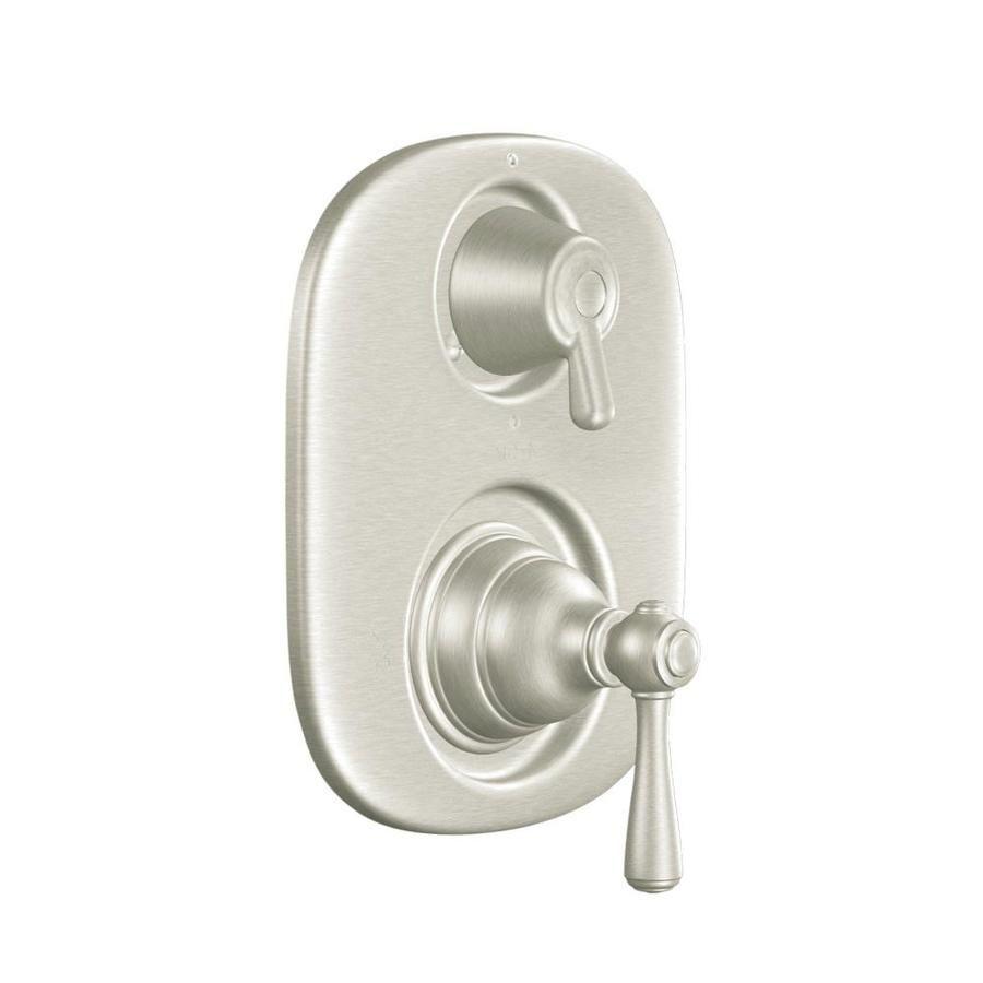 Moen Brushed Nickel Lever Shower Handle Brushed Nickel Faucet