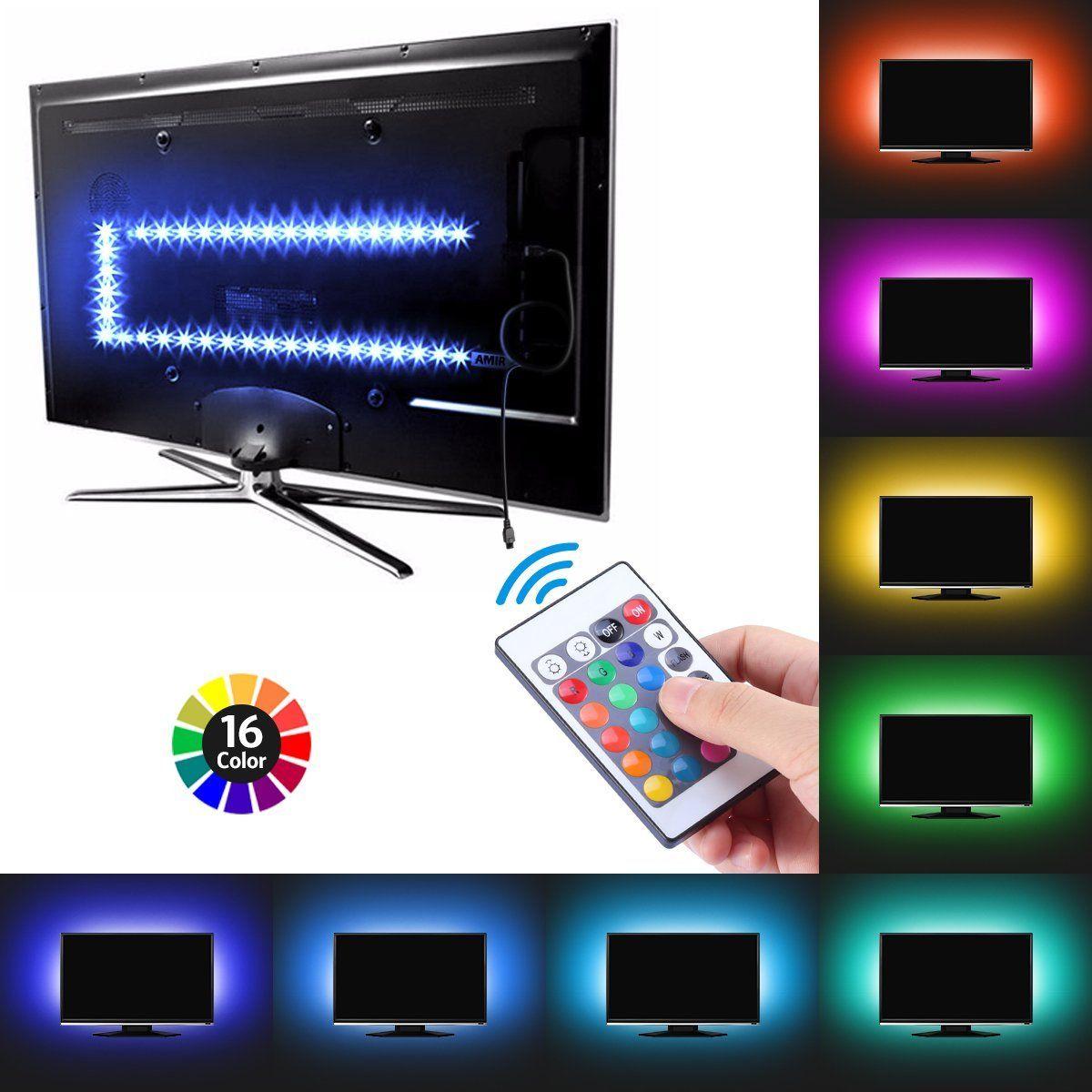 USB Powered RGB 5050 LED Strip Lighting for TV Computer Game Night Light VLOG