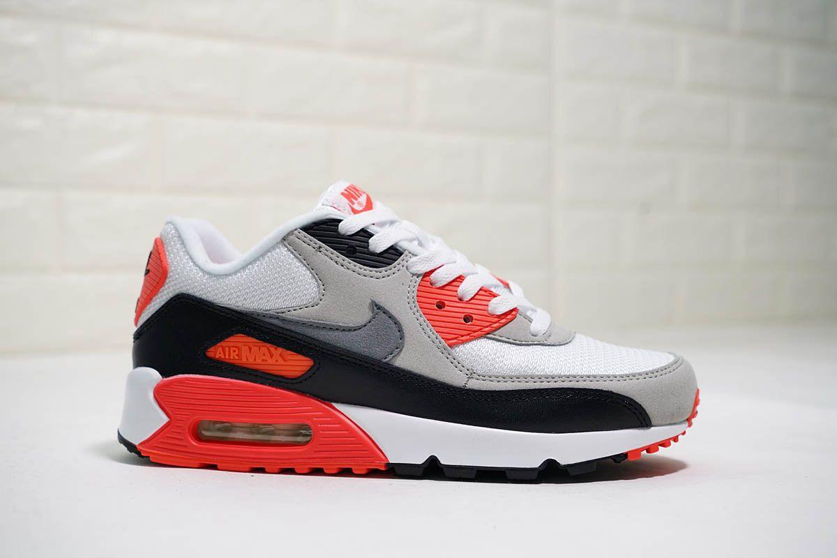 Mens Nike Air Max 90 OG 'Infrared' 2015 Cement Grey Black