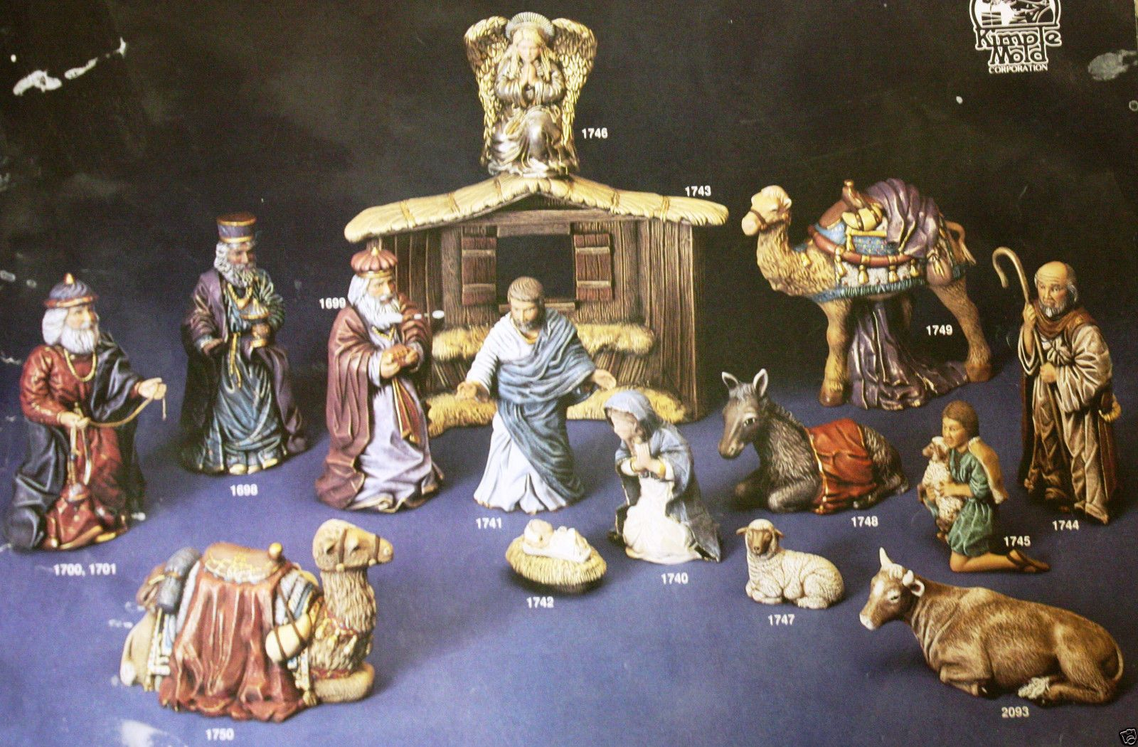 Ceramic Bisque 15 PC Large Nativity Scene Kimple 1700 Set U