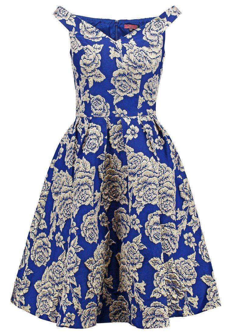 Chi Chi London LEONI Sukienka koktajlowa navy/gold | Sukienki ...