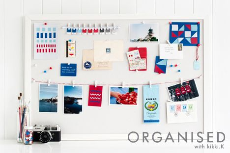 An Organised Life: Vision // A vision Board is a fantastic tool to help you stay inspired and motivated throughout the year. Use a Vision Board as a blank canvas for your life. Fill it with images, quotes, magazine clippings, photos and materials that inspire you. Click and read more about our Weekly Vision task on our blog. x