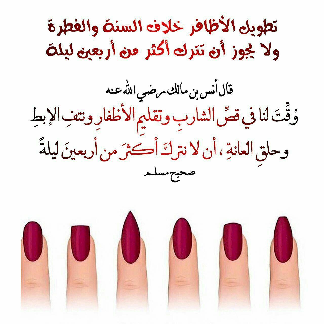 الاظافر Islam Hadith Beauty