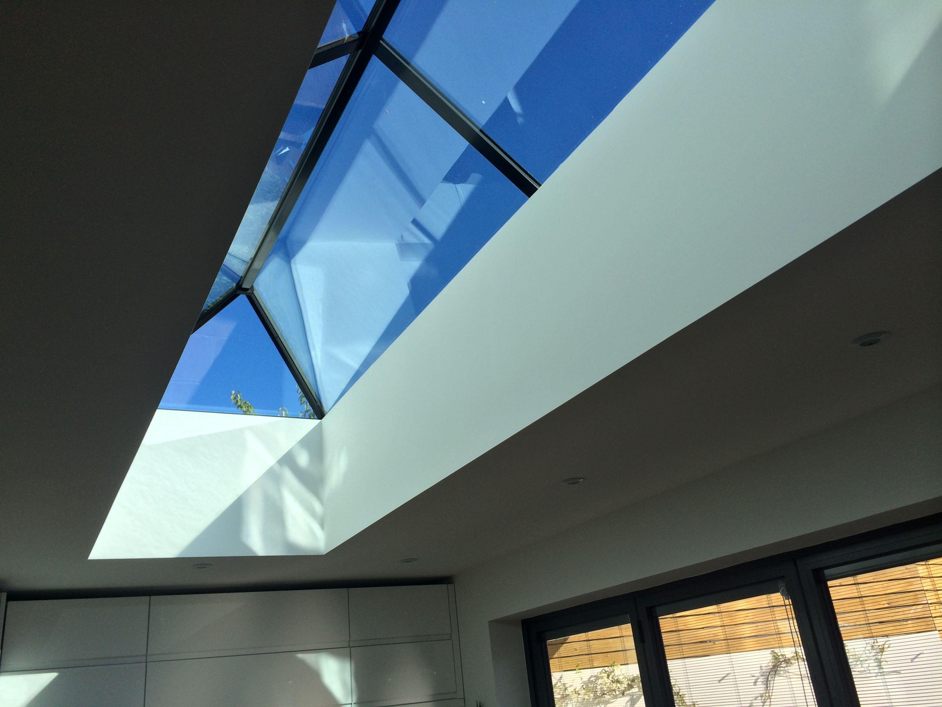 4 X 1 M Contemporary Roof Lantern Double Glazed Marine Grade Powder Coated Aluminium Fantastic U Value Roof Architecture Modern Roofing Roof Design