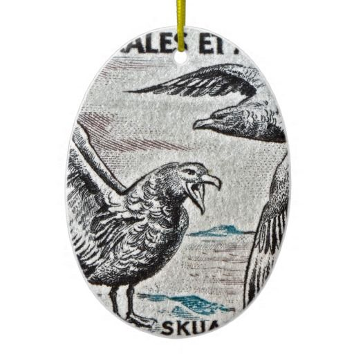 Sold!  1959 Great Skua French Antarctica Stamp Tree Ornament #christmas #ornaments (comes in different shapes)  :)