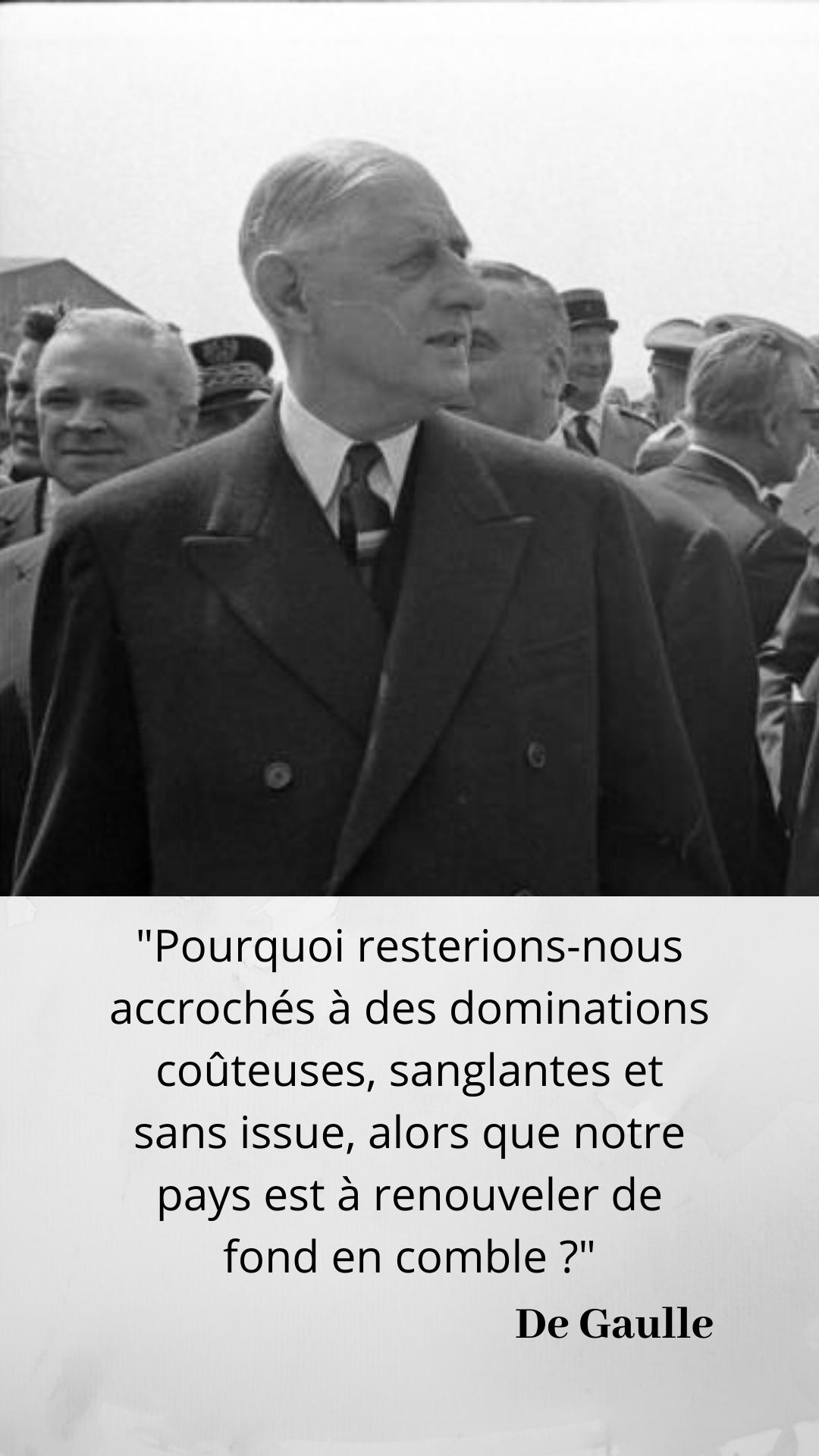 Pour de Gaulle, il faut que la défense de la France soit