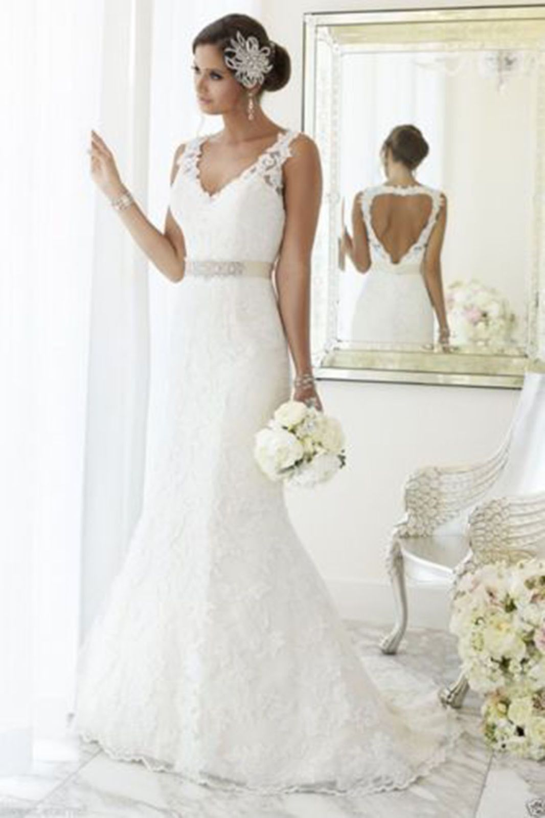 Size 6 wedding dress  Cool Mermaid WhiteIvory Lace Wedding dress Bridal Gown custom Size