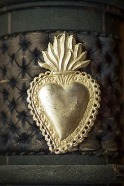 Milagro Silver Heart with Flame Detail