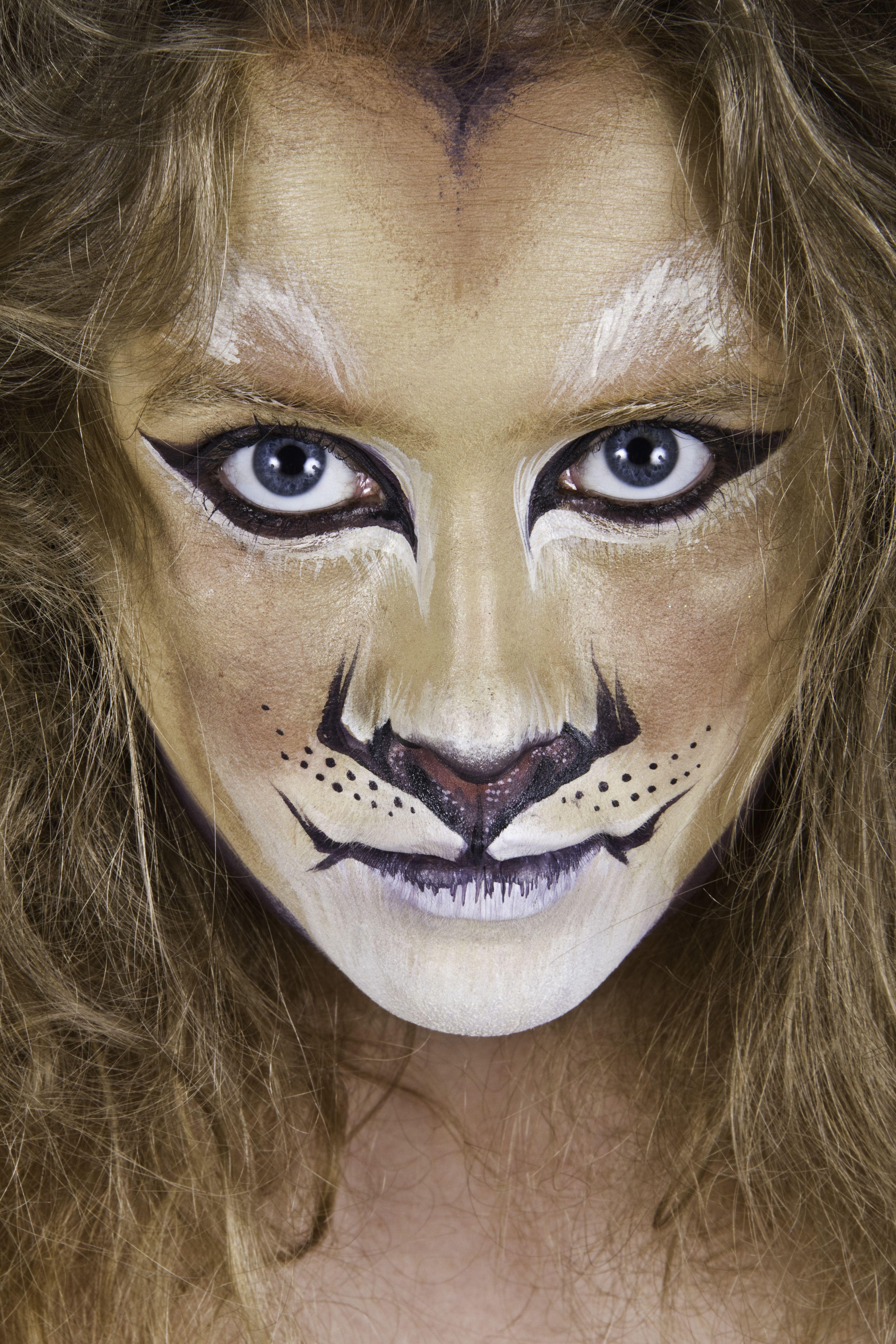Cheetah makeup for Halloween cheetahmakeup halloween