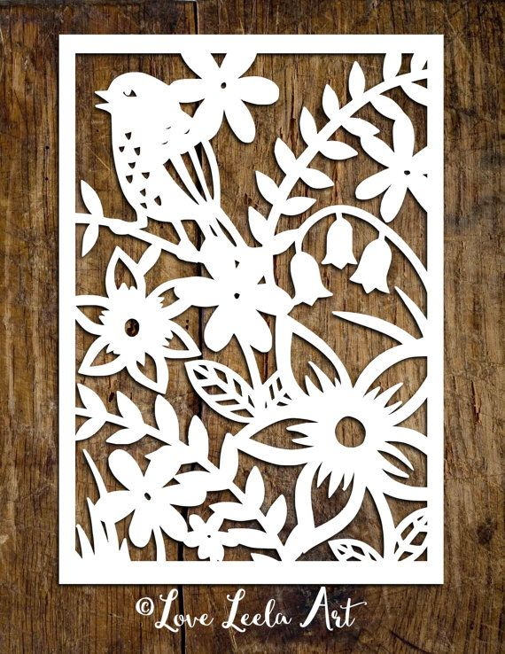 personal use papercutting template flower garden paper cut