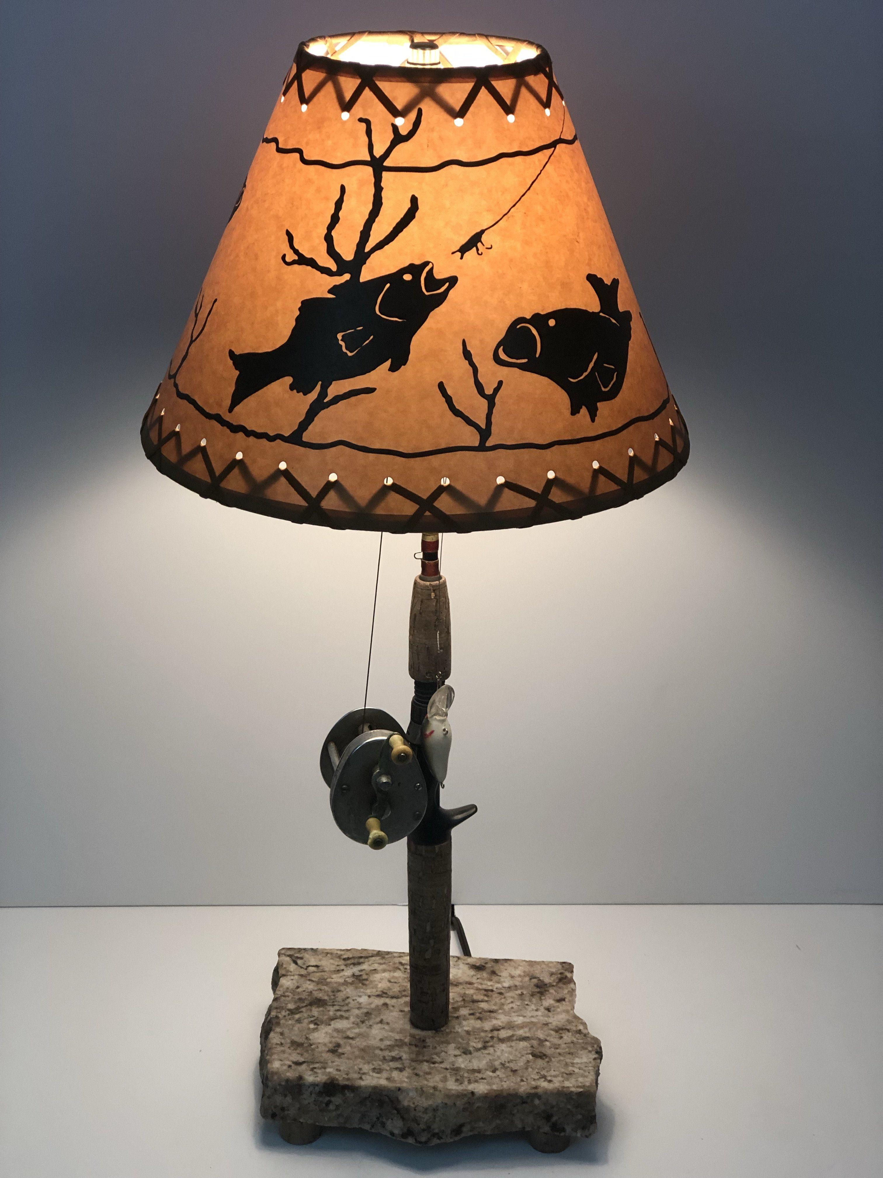 Bass Night Stand Lamp #1630 | Nightstand lamp, Lamp, Table ...
