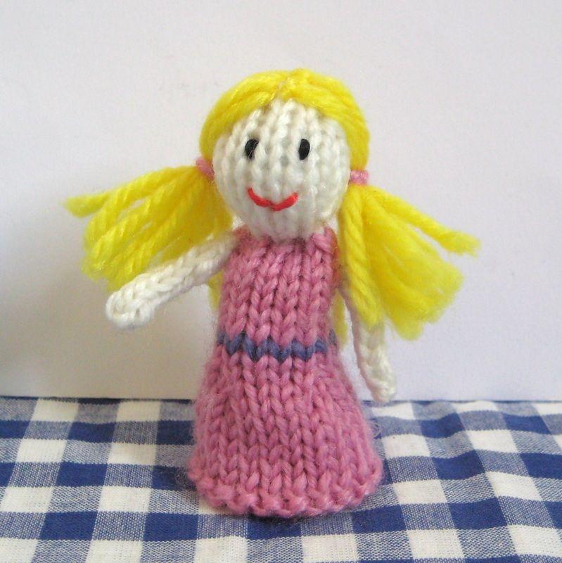 Goldilocks Finger Puppet Knitting Pattern Free Knitting Plushies
