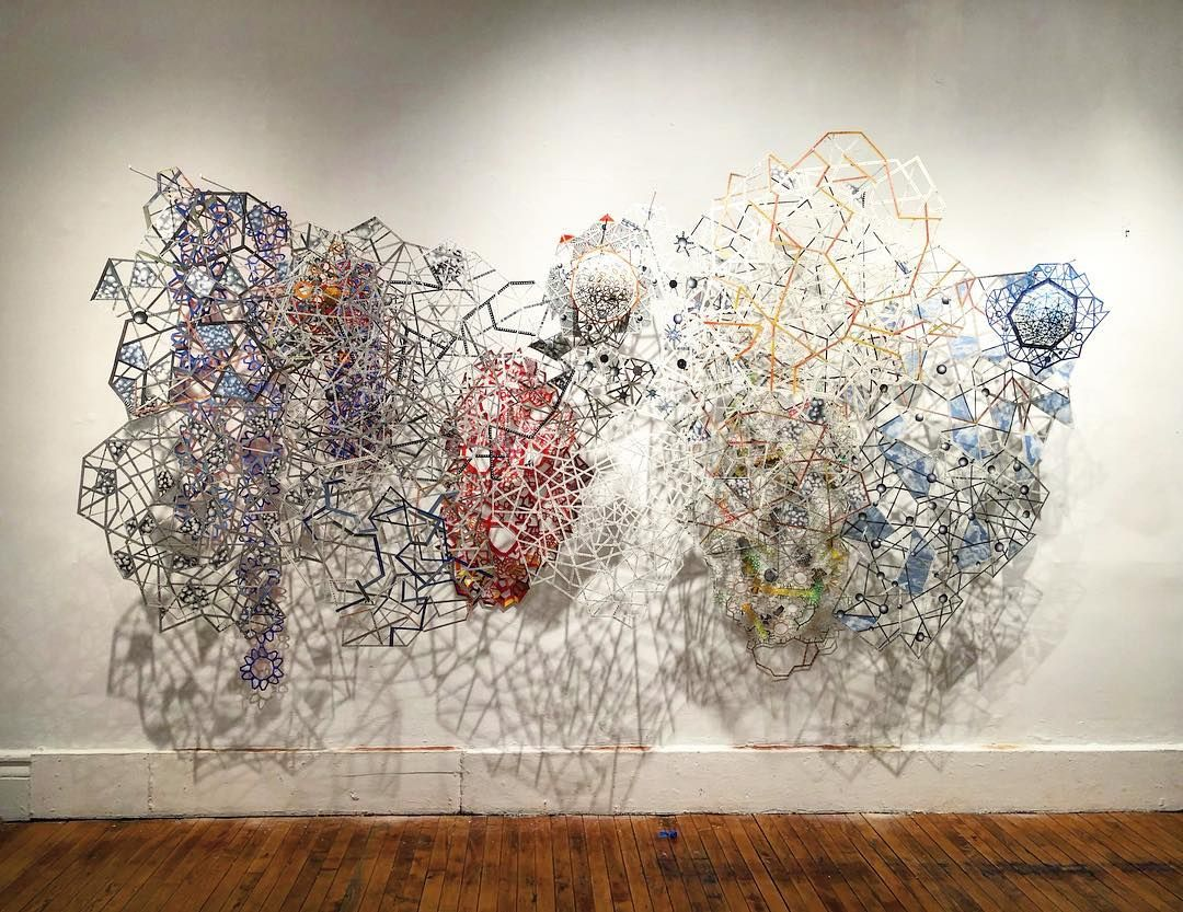 Installed Shredded Victory At Clemente Abrazo Gallery Nancybaker Trillmatrix Not Properly Lit Yet But I M Happy It S Installe Installation Art Gallery Tapestry