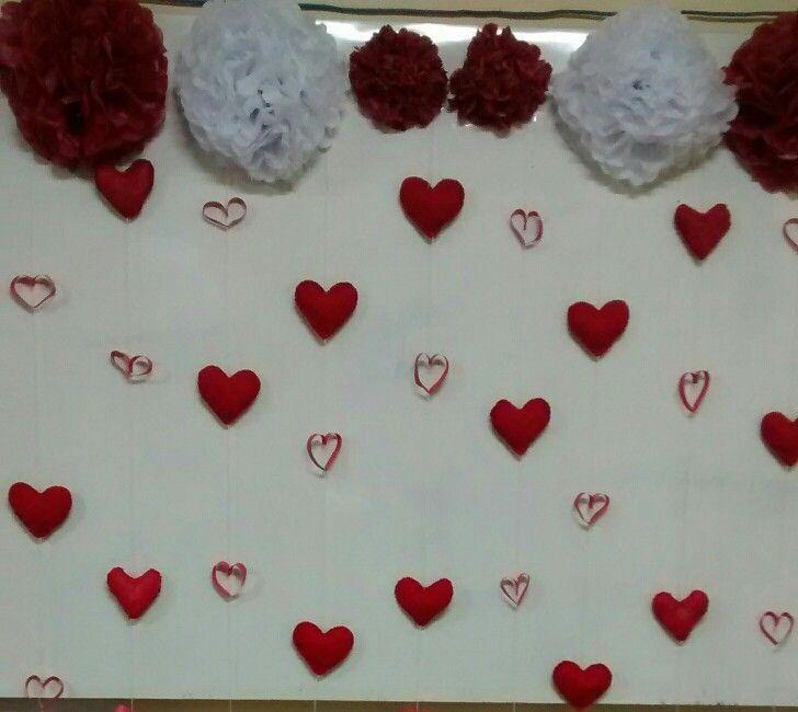 Diy chá de casanova da aline. cortina de corações... corações de ...
