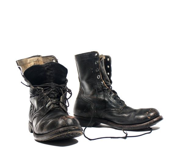 Vintage 1966 Combat Boots International Shoe Company Lace Up ...