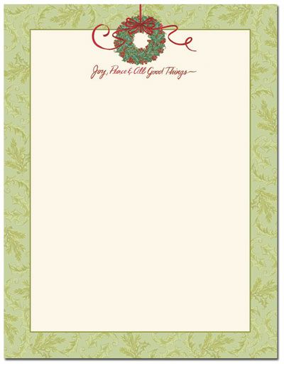 Christmas Stationery - All Good Things Letterhead CHRISTMAS - christmas letterhead templates word