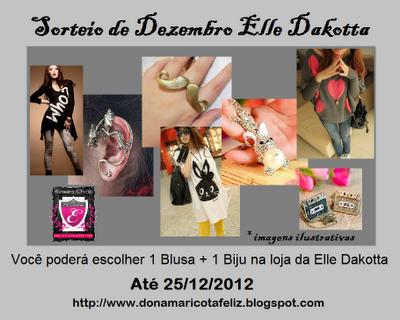 Vou ganhar uma blusa euma biju no sorteio que a @Maricotafeliz e a @ElleDakotta estão promovendo.