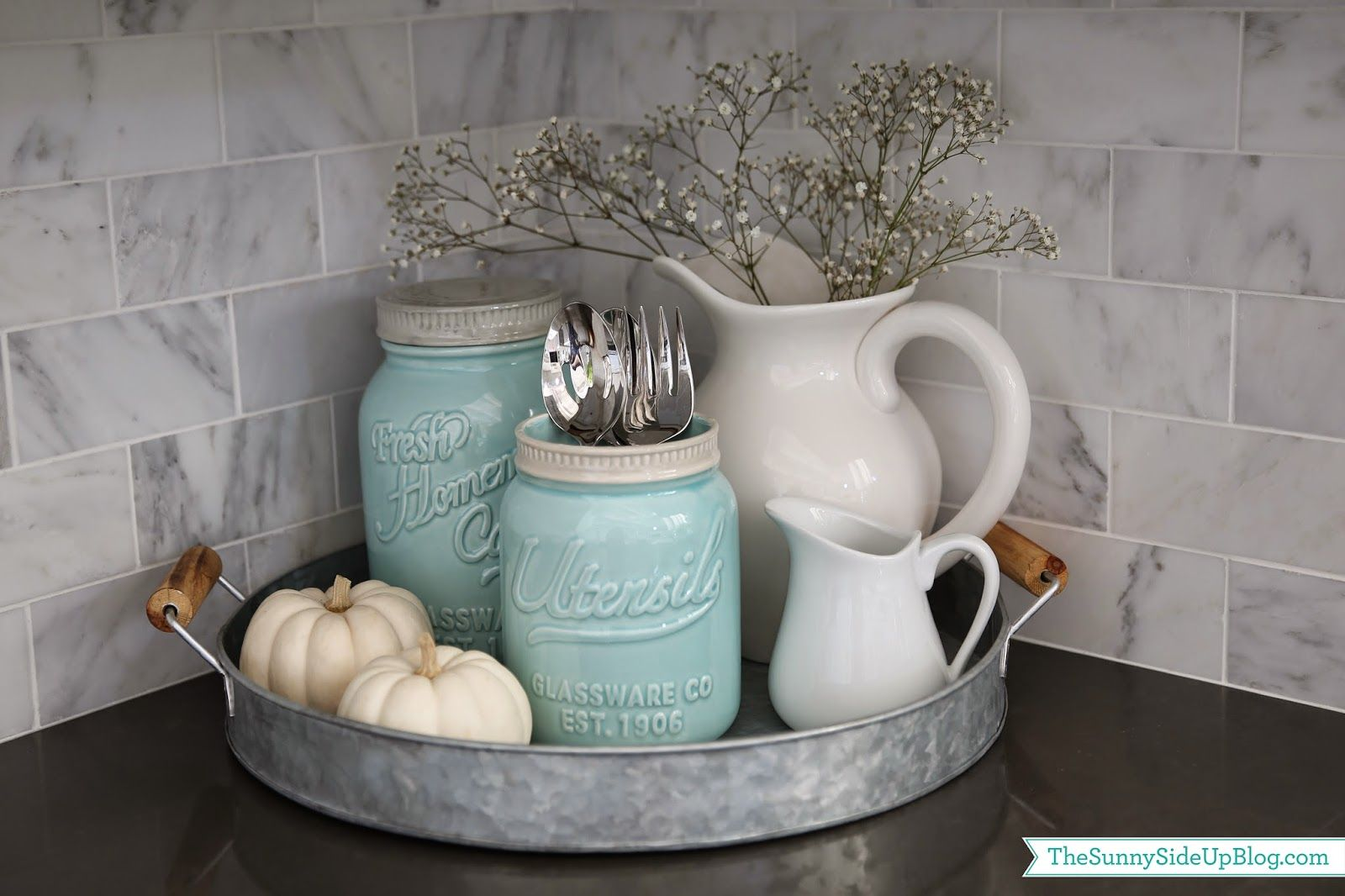 Simple Fall decor in the kitchen (Sunny Side Up)