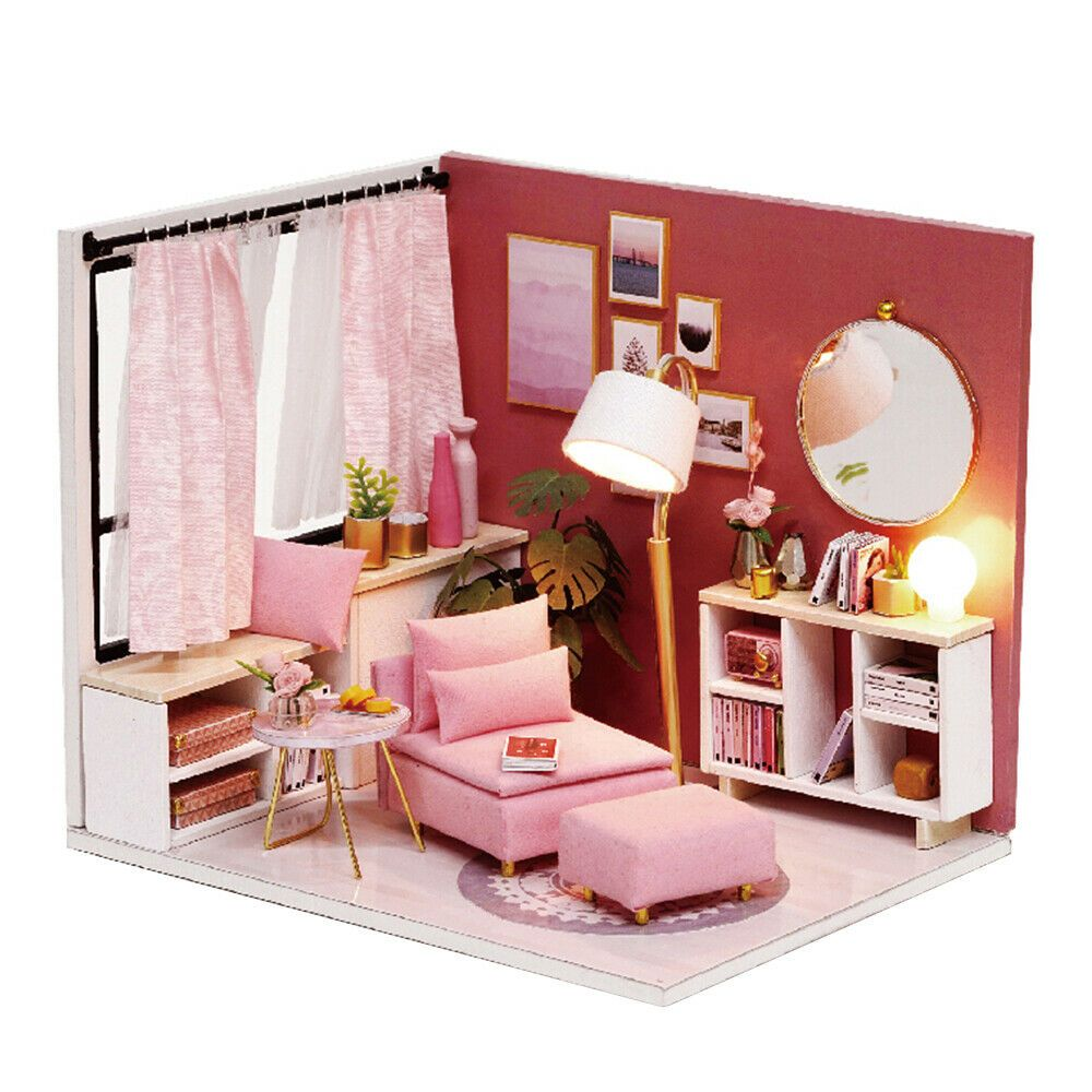 Dollhouse Miniature DIY Kit Wood Toy Doll House Cottage Photo Frame Design Gift