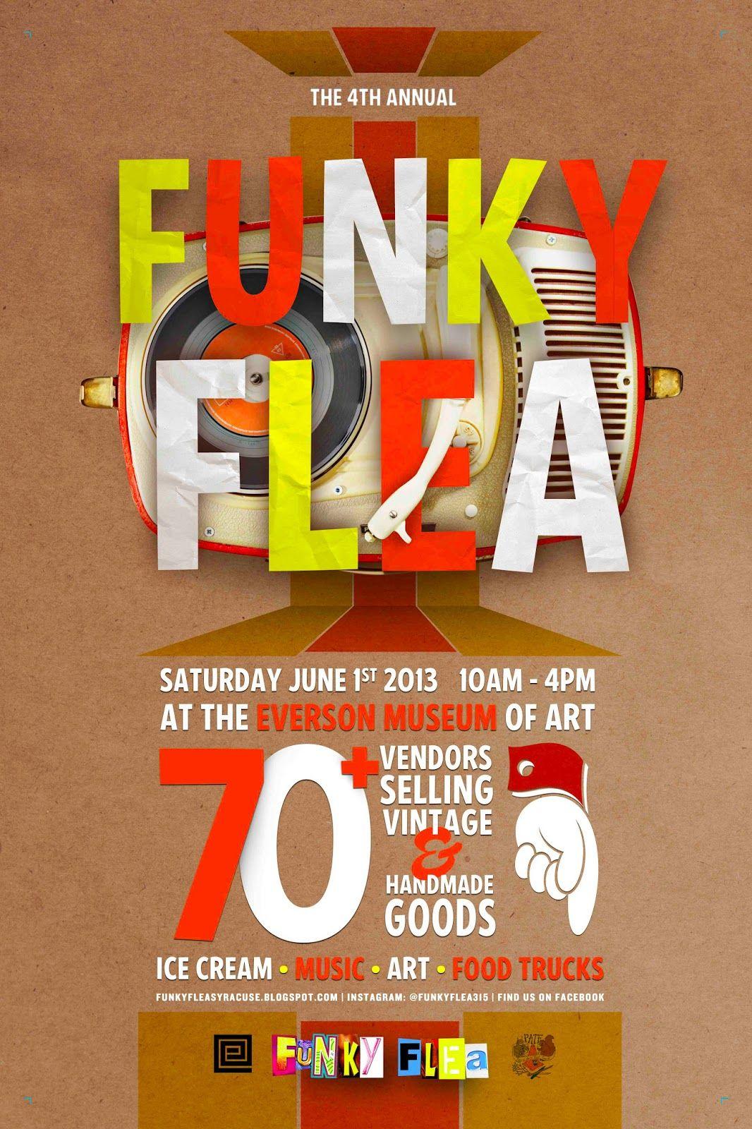 Poster design handmade - Flea Market Poster Design
