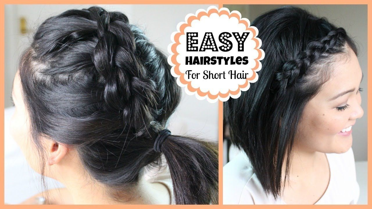 Easy hairstyles for short hair growing out dous bob length diy