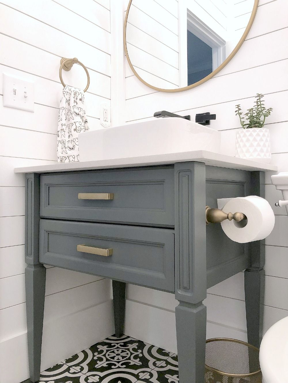 ideas on how to update a 15 year old bathroom vanity old on replacement countertops for bathroom vanity id=34501