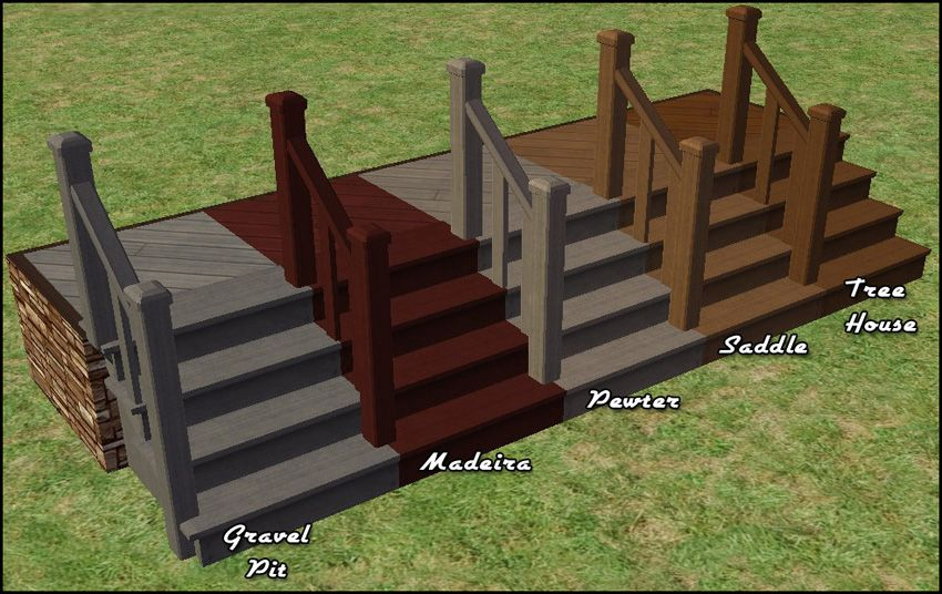 Mod The Sims - Maxis Modular Stairs Recolored, Part the First