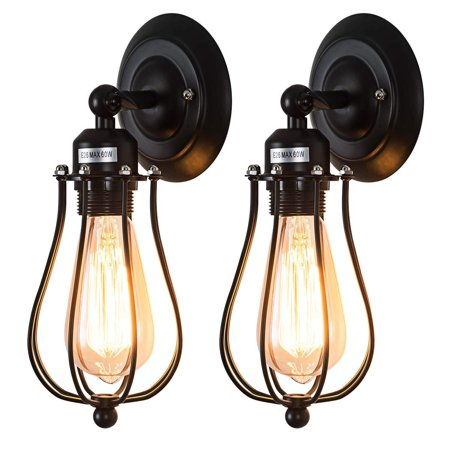Moaere Wire Cage Wall Sconce Led Dimmable Metal Industrial Wall