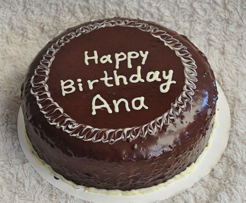 Hy Birthday Ana Chocolate Gouden Chiffon Cake With Ganache No Filling