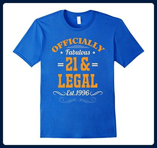Mens 21st Birthday Fabulous 21 Legal T Shirt 2XL Royal Blue