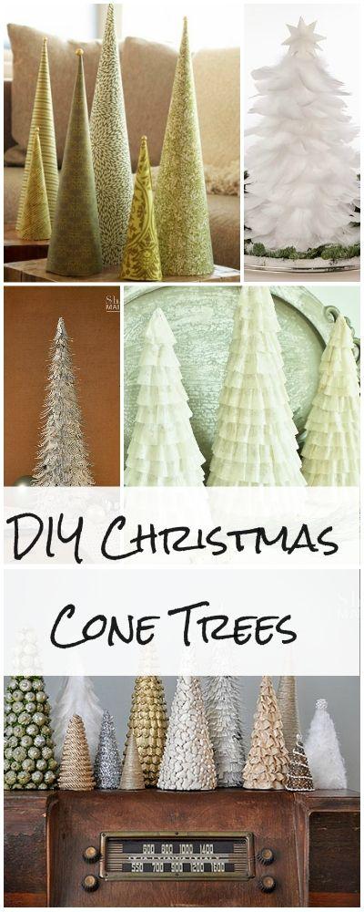 DIY Christmas Cone Trees Cone trees, DIY Christmas and Tutorials