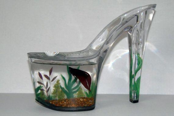 Betta Art Decorative Fish Bowl Mesmerizing Hand Painted Fish Tank For Shoe Lovers For Babyashoething Design Ideas