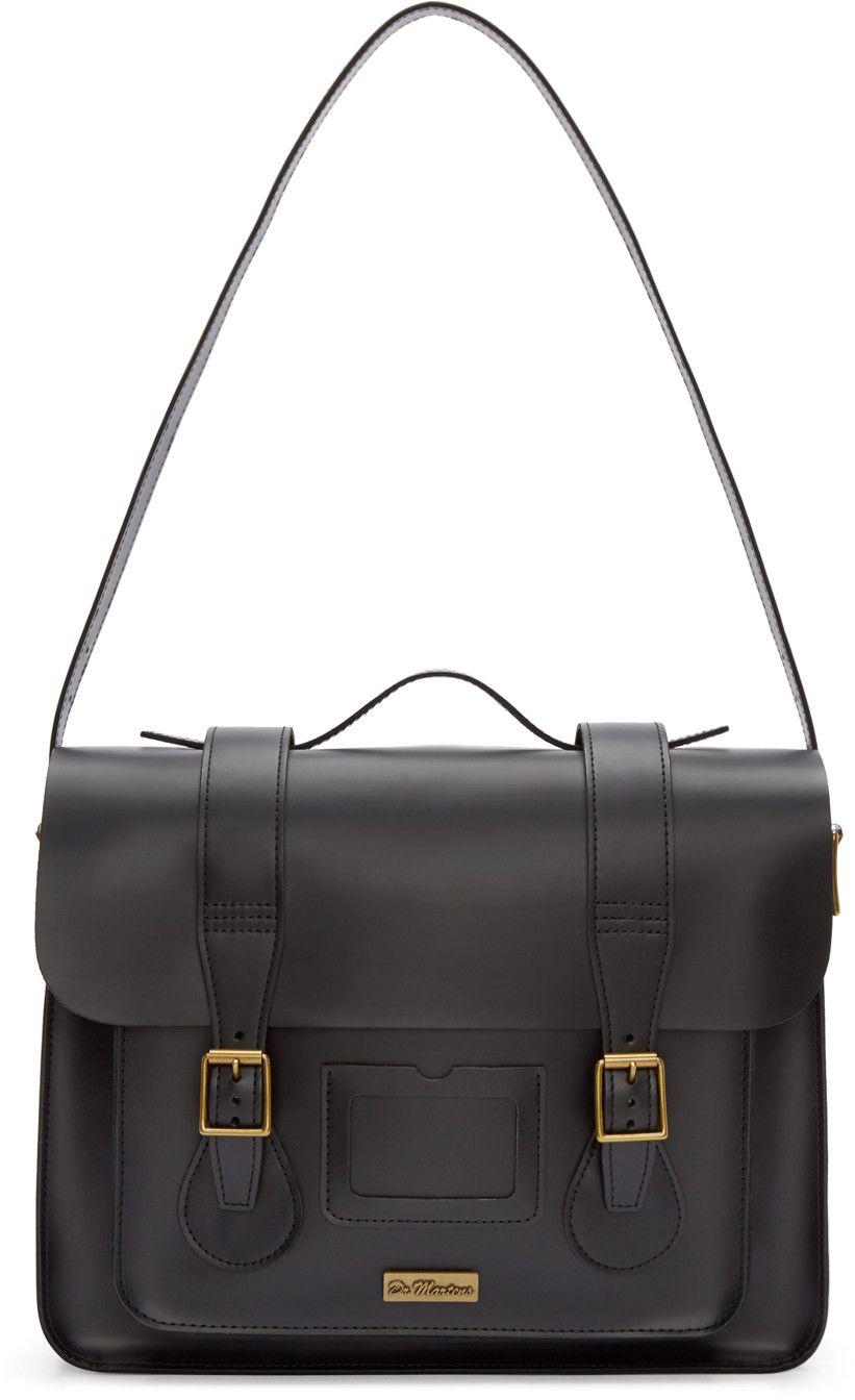 586d7bdaa7 Dr. Martens - Black Leather Messenger Bag