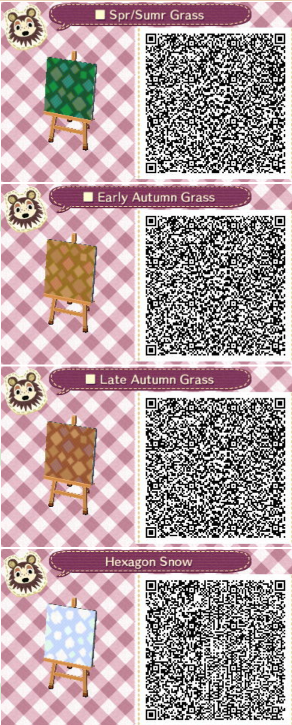 Acnl qr square grass all seasons spring summer fall winter for Acnl boden qr