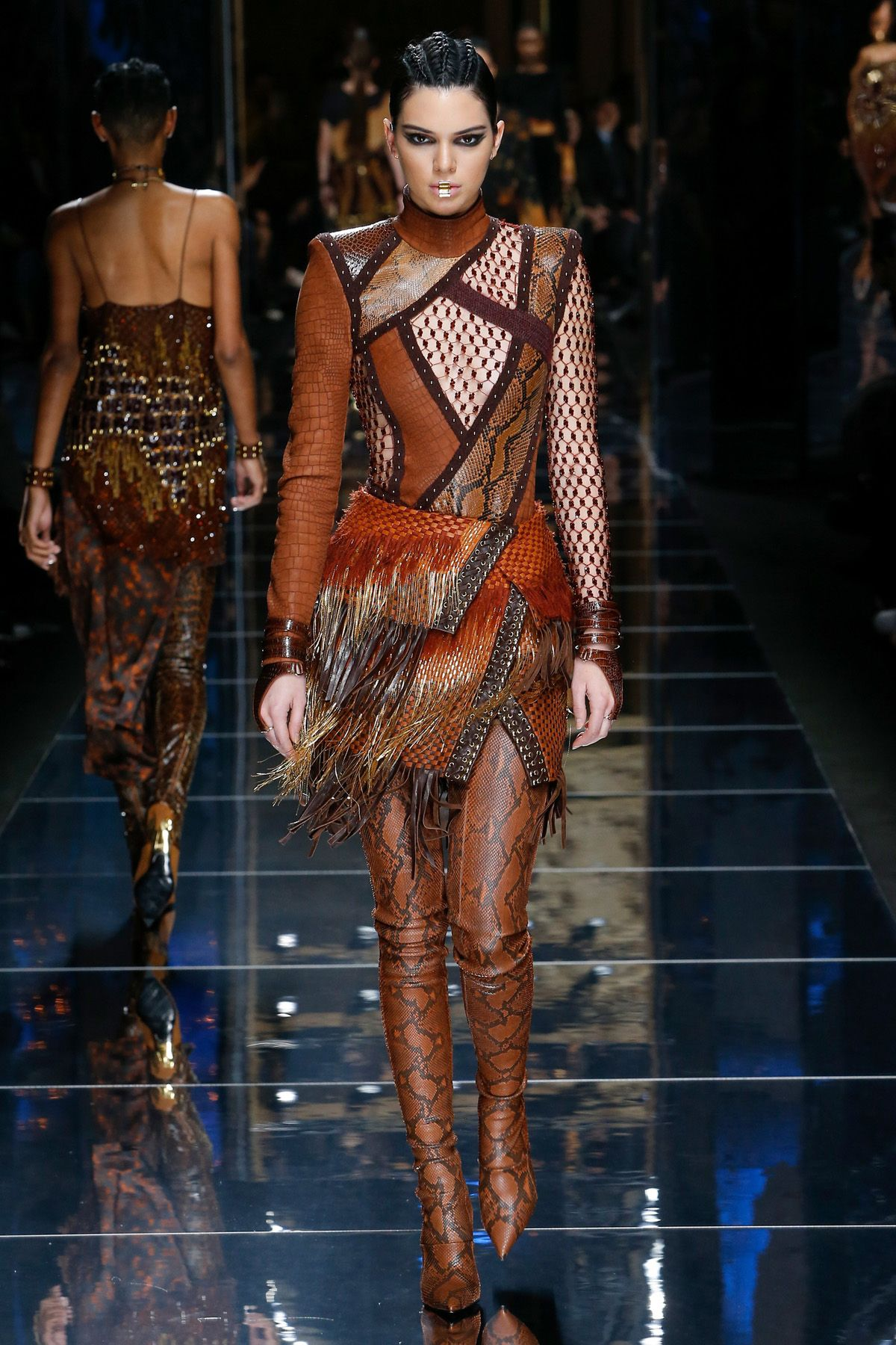 Kendall Jenner for Balmain - Fall Winter 2017 Paris | Leather sexy ...