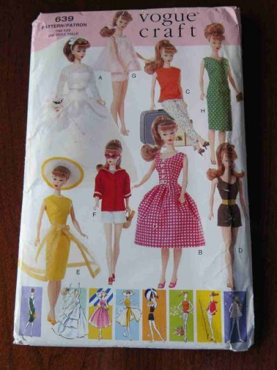 Vogue 639 Vintage Barbie Doll Clothes | Barbie clothes Patterns ...