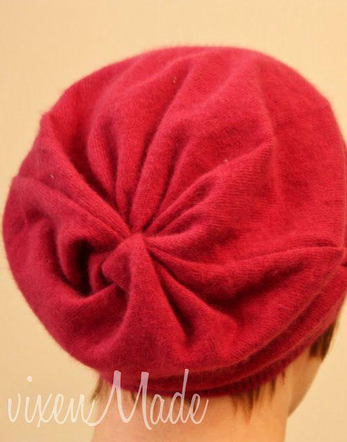 Mütze aus einem Pullover