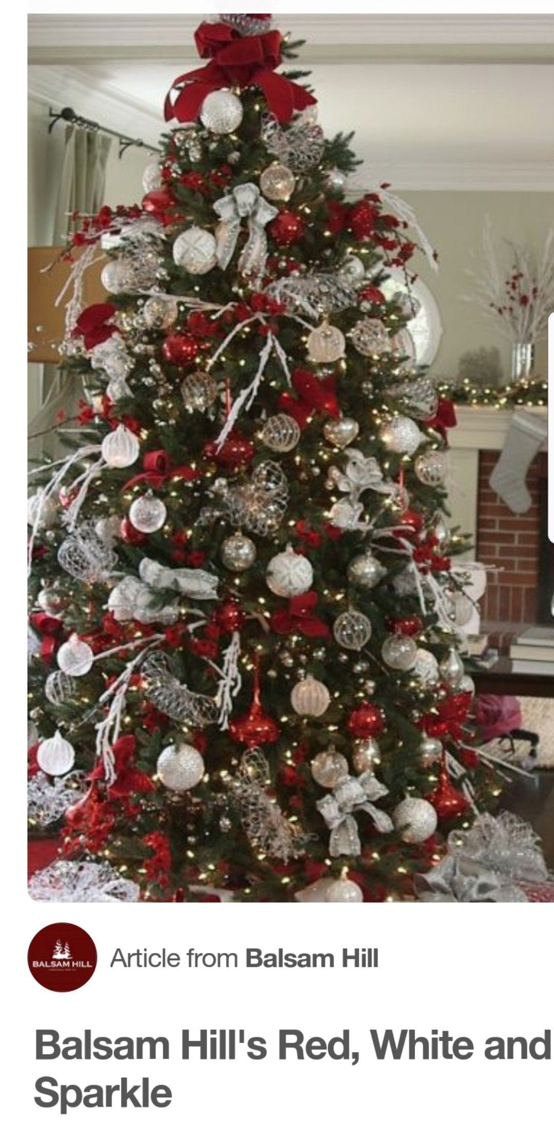 Red Christmas Trees Decorations And White Decor