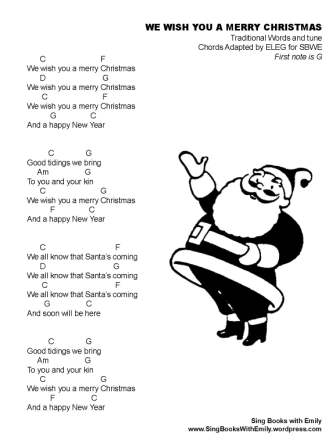 We Wish You a Merry Christmas in Illustrated Song   Merry christmas, Merry, Songs