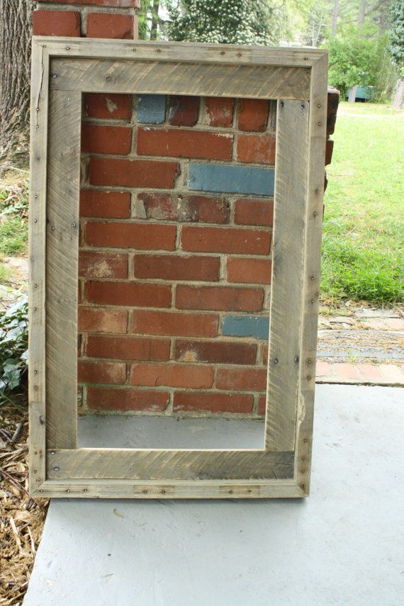 Frame made from recycled pallet wood | Crafts | Pinterest | Pallet ...